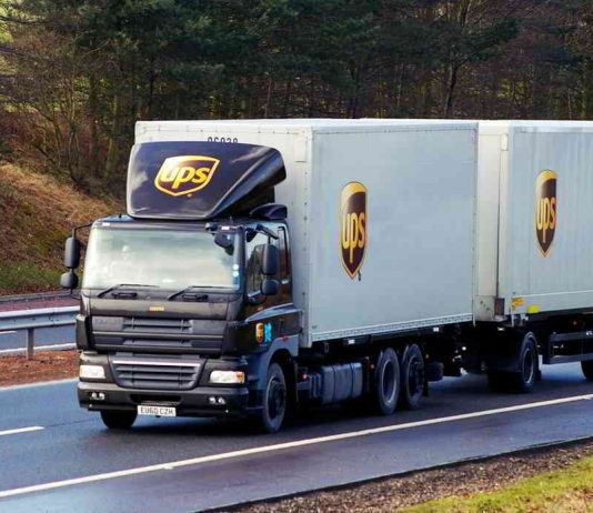 UPS blockchain trucking technology