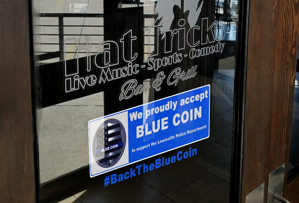 blue coin lewisville city-run cryptocurrency